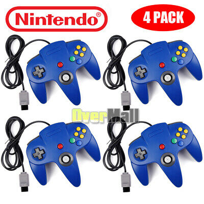 4Pack N64 Controller Joystick Gamepad Long Wired for Nintendo 64 Console Game US