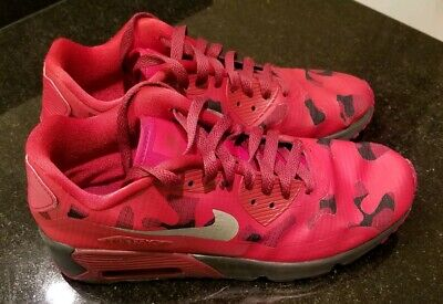 c39d23efa9 Nike Air Max 90 NS SE Red CAMO Black Gym sneakers 869946-600 youth size
