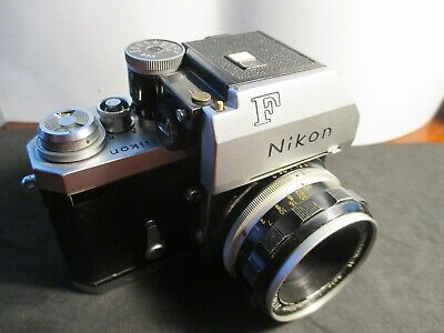 Nikon F Camera Body With Nikkor-H Auto 2/50mm Lens