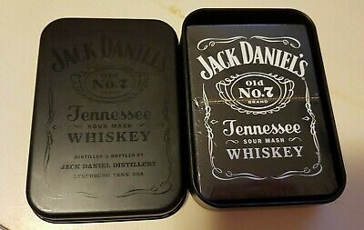 New Sealed Pack Of Jack Daniels Old No.7 Playing Cards In Presentation Tin