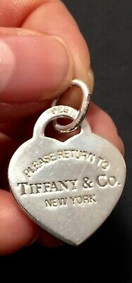b2173976a Please Return To Tiffany & Co. New York Sterling Silver Heart Tag Charm  Pendant