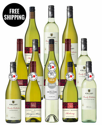 Grant Burge & Mcwilliam's White Mix + Bonus (13 Bottles)