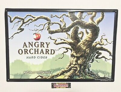 """Angry Orchard Hard Apple Cider Metal Beer Sign 17.5x11.5"""" - Brand New!"""