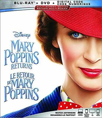 Mary Poppins Returns (2 Disc Blu-ray/DVD, 2019, Canadian)