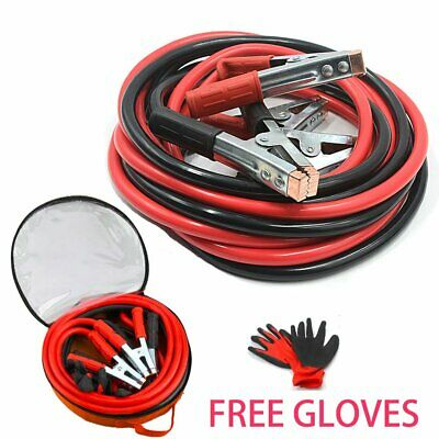 Heavy Duty 2000AMP Booster Cable Long Start Jump Leads 5M Car Van Lead Copper