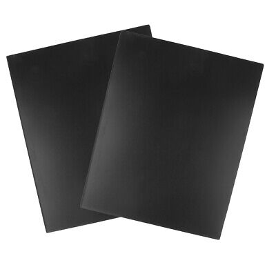 2pcs ABS Styrene Plastic Sheet Plate Black Smooth 200*250(LxW) Thickness 5mm