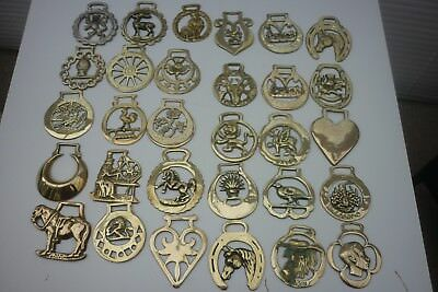90 ASSORTED HORSE BRASSES ~ (8C) ~ COMBINE POST 1st @ £1.25 + EXTRAS @ 65p EACH