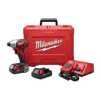 Milwaukee Cordless 1/4 in. Hex Impact Driver Kit M18 18-V Lithium-Ion Power Tool