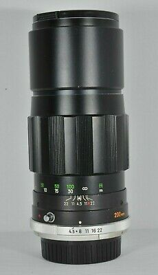 Minolta MC Tele Rokkor-PE 200mm f4.5 Lens for MD Mount