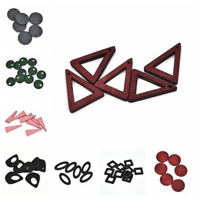 10/15pcs DIY Earring Making Wooden Jewerly Pendant Triangle Geometry Crafts