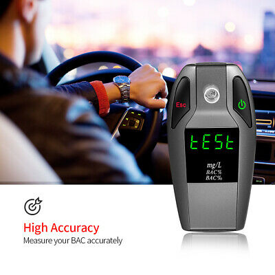 Digital Breath Alcohol Tester Fuel Cell Sensor Blood Alcohol Content Detector
