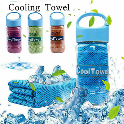 ICE Cold Towel Gym Sports Fitness Jogging Yoga Instant Cooling Chill Cloth UK
