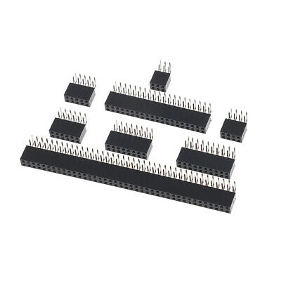 10Pcs 2.54mm double row female 2~40P PCB board right angle pin socket connect fd