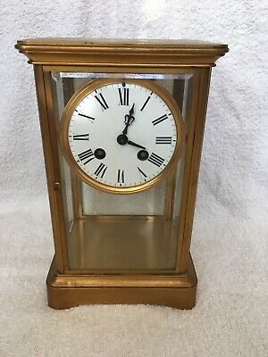Antique  4 Glass Mecurey pendulum mantel clock