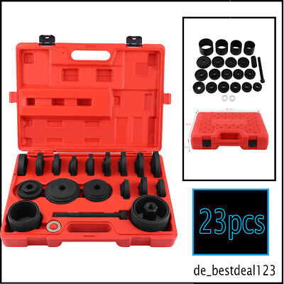 23pcs Front Wheel Bearing Removal Front Universal Press Pull Install Tools Kit