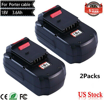3.6Ah EXTENDED For Porter Cable 18V Battery PC18B PCC489N PCMVC PCXMVC 18-volt