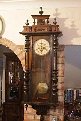 Antique German 'Junghans' 10-Day Striking Wall Striking Clock, 19th Century