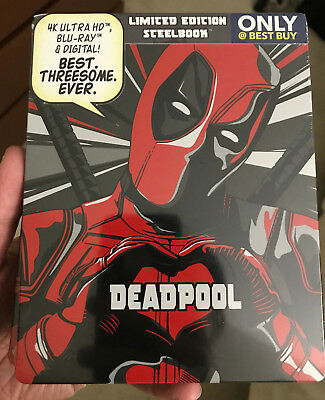 Deadpool 4k UHD +Blu-Ray +Digital HD Caja Metálica Exclusivo Nuevo Marvel