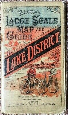 Vintage Bacon's Large Scale Cloth Map of Lake District