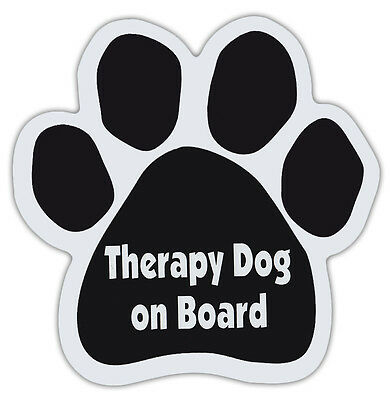 DOG Paw Shaped Magnets: THERAPY DOG ON BOARD Dogs, Gifts, Cars, Trucks