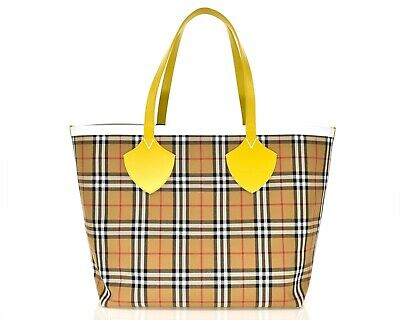 ed537f3a2bec NWT BURBERRY MEDIUM Giant Reversible Vintage Check Bonded Tartan ...
