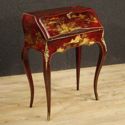 Fore French Furniture Secretary Desk Secrétaire Wood Lacquered Chinoiserie
