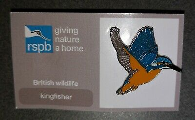 * RSPB PIN BADGE * Flying Kingfisher * JUST RELEASED *