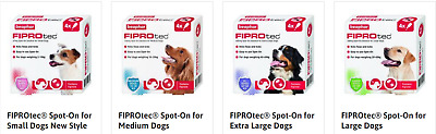 Beaphar Fiprotec Dog Flea Treatment Fipronil Spot On Fleas Tick Solution NEW