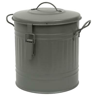 Garden Trading Outdoor/Garden Steel Compost Bucket/Bin – Charcoal - 13.5L