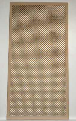 Radiator Cabinet Decorative Screening Perforated 3mm & 6mm thick MDF laser 10mm