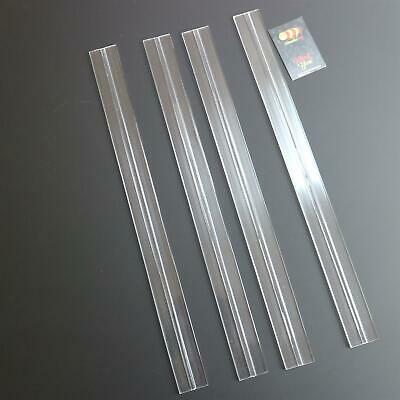 4x 500mm low profile flex hinges, flexible living hinges,plexiglass,Transparent