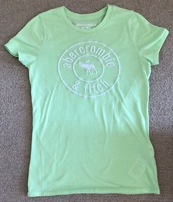 Abercrombie & Fitch Kids Light Green Girls T-Shirt With White Logo Age 13-14