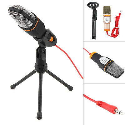 Capacitive Condenser Microphone Recording Speech Studio Mic with Shock Mount New