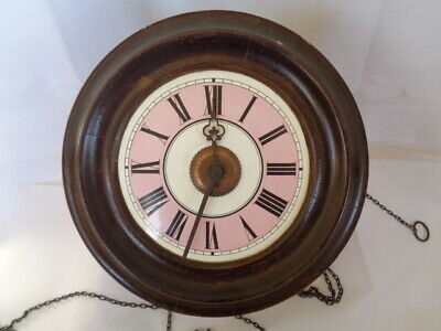 19th century antique pink dail postman,s clock
