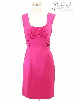 b9124a0883f A10 MARCIANO Designer Dress Size Small 4 6 Pink Solid Bodycon Sleeveless  Midi