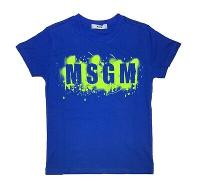T-shirt MSGM Bimbo 018672 blu royal ss19