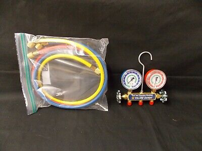 """Yellow Jacket Series 41 Test & Charging Manifold Gauges 2 1/2"""" R502 R22 R12  NSO"""