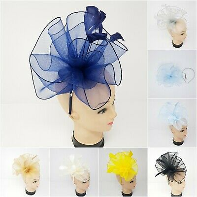 Women's Elegant Feather Fascinator Headband Clip Wedding Royal Ascot Race Prom