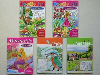 Creative Colouring Books for all Ages (Choice of 5)