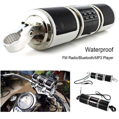 Motorcycle Bluetooth Audio Sound System MP3 FM Radio Stereo Speakers Waterproof-