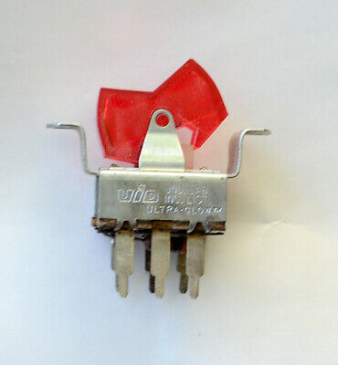 Vintage 60's 70's Lighted Dynaco type Rocker Power Switch - NOS