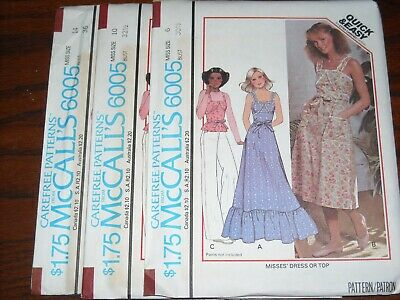 LADIES TWO LENGTH DRESS /& TOP PATTERN 6-14 FF UNCIRCULATED 1977 McCALL/'S #5484