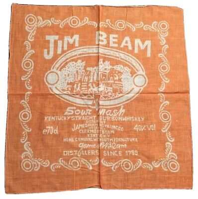 Bandana Foulard Neuf Jim Beam Bourbon Whiskey - Moto USA