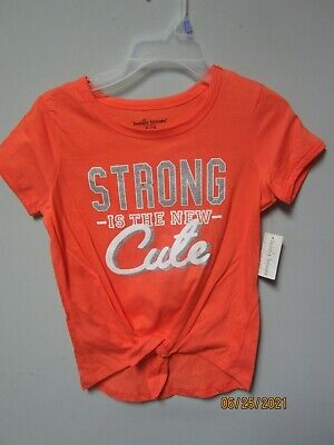 """Bobbie Brooks Clothing Girls """"Strong is the New Cute"""" Shirt Size M(7/8) LOT OF 2"""
