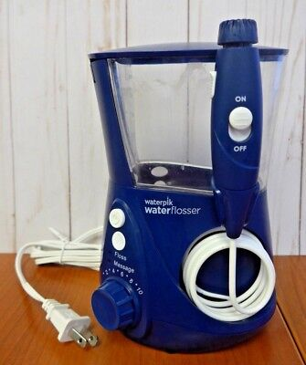 Waterpik ADA Accepted WP-663 Aquarius Water Flosser WP-663 Blue **READ** (JA59)