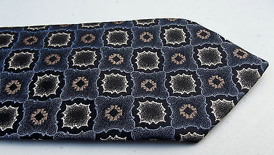 Hardy Amies check tie Vintage 1970s English men's smart formal neckwear