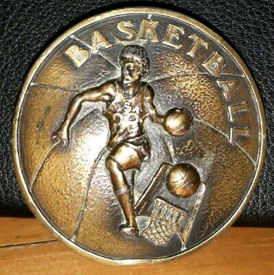 Vintage 1978 **BASKETBALL** Belt Buckle INDIANA METAL CRAFT USA Basketball