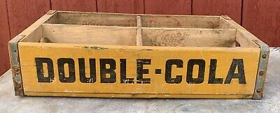 4 Vintage Wooden Double Cola Soda Crate 70s Retro Trug Box Tulsa Ok