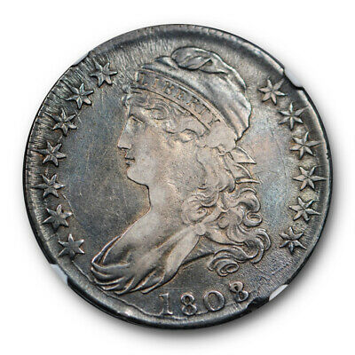 1808/7 Capped Bust Half Dollar NGC XF 45 Overton 101 Original Toned Early Half
