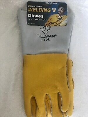 "Tillman premium 850 L Kidskin SMAW ""STICK"" Welding Gloves for Pipe Welder"